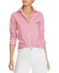Lauren by Ralph Lauren - Non-iron Button-down Shirt - Lyst