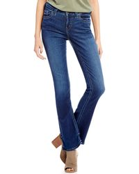 Silver Jeans Co. - Aiko Clean Slim Bootcut Jeans - Lyst