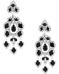 Cezanne - Floral Chandelier Earrings - Lyst