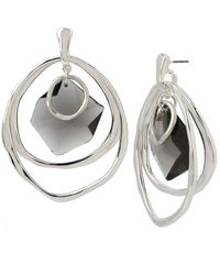 Robert Lee Morris - Silver And Black Diamond Oribital Earrings - Lyst