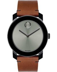 Movado Bold - Colorado Bull Hide Leather-strap Watch - Lyst