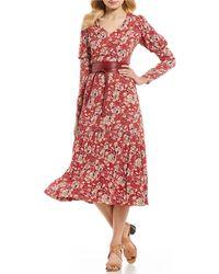 Antonio Melani - Floral Violet Midi Dress - Lyst