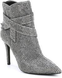 Gianni Bini - Vinya Jeweled Bow Dress Booties - Lyst