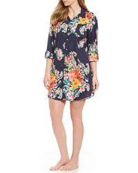 Lauren by Ralph Lauren - Plus His Shirt Paisley-print Lawn Sleep Shirt - Lyst