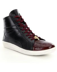 Belvedere - Men ́s Vitale Eel And Leather Sneakers - Lyst