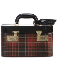 Patricia Nash - Gold Foil Tartan Plaid Collection Paradiso Cosmetic Train Case - Lyst