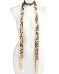 Trina Turk - Midnight Studio Chain-fringed Sequined Scarf Necklace - Lyst