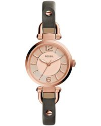 Fossil - Georgia 3 Hand Rose Gold-tone Stainless Steel Watch - Lyst