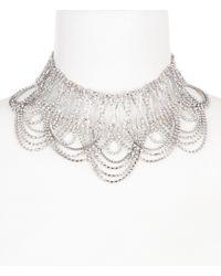 Belle By Badgley Mischka - Mata Hari Statement Choker Necklace - Lyst