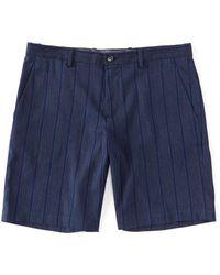 Perry Ellis - Stripe Print 9 Inseam Shorts - Lyst