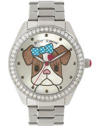 Betsey Johnson | Puppy Dog With Bow Analog Bracelet Watch | Lyst