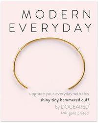 Dogeared - Modern Everyday Hammered Cuff Bracelet - Lyst