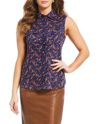 Antonio Melani - Made With Liberty Fabrics Elizabeth Lauren Floral Print Blouse - Lyst