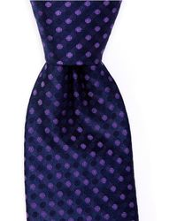 Murano Oden Dot Skinny 275 Tie - Purple