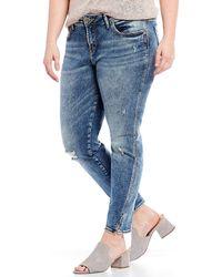 Silver Jeans Co. - Plus Avery Skinny Jeans - Lyst