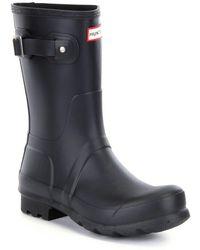 HUNTER - Original Men ́s Short Waterproof Rain Boots - Lyst