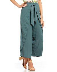 June & Hudson - Tie-front Crepe Pants - Lyst