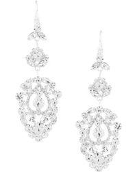 Cezanne - Medallion Drop Earrings - Lyst