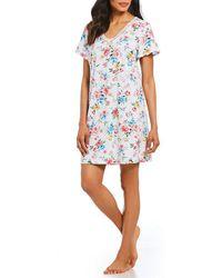 Karen Neuburger - Floral-print Knit Sleepshirt - Lyst