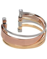 BCBGeneration - Bcbg Tri-tone Cuff Bracelet - Lyst