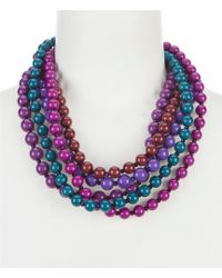 Dillard's - Tailored Beaded Torsade Statement Necklace - Lyst