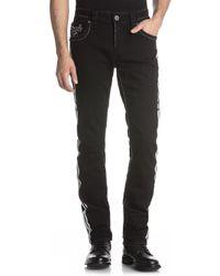 Rock Revival - 32 Barrett Alternate Straight Side Stripe Jeans - Lyst