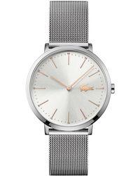 Lacoste - Moon Ultra-slim Analog Mesh Bracelet Watch - Lyst
