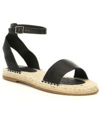 b4f1895bfc72 Lyst - Eileen Fisher Perforated-Leather Sport Sandal in Black