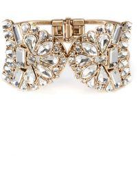 Belle By Badgley Mischka - Vintage Crystal Cuff Hinge Bracelet - Lyst