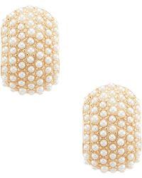 Anne Klein - Pearl Beaded Clip Earrings - Lyst
