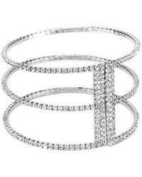 Cezanne - Triple Floating Rows Open Cuff Bracelet - Lyst