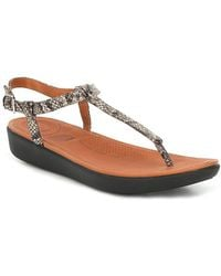 FitFlop Tia Embossed Snake Print Thong Sandals gWCOht6y