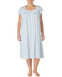 Eileen West - Plus Floral Scroll-print Waltz Jersey Nightgown - Lyst