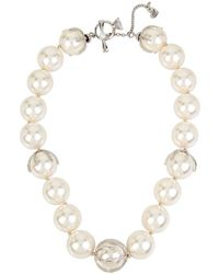Betsey Johnson   Blue By Faux-pearl Collar Necklace   Lyst