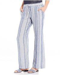 Jones New York   Stripe Linen Easy Pants   Lyst