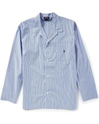Polo Ralph Lauren - Long Sleeve Woven Vertical Striped Pajama Top - Lyst