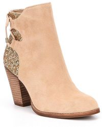 Gianni Bini - Lulah Back Lace Up Booties - Lyst