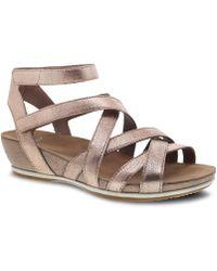 Dansko - Veruca Adjustable Leather Sandals - Lyst