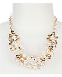 Dillard's - Pearl Shaky Statement Necklace - Lyst
