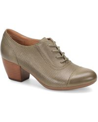 Comfortiva - Angelique Laser Perforated Leather Oxford Block Heel Pumps - Lyst