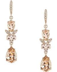 Givenchy - Silk Double Drop Earrings - Lyst