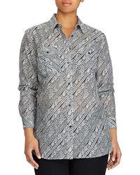Lauren by Ralph Lauren - Plus Size Paisley Silk-blend Shirt - Lyst