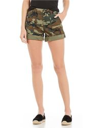 Sanctuary - Explorer Camouflage Cuffed Shorts - Lyst
