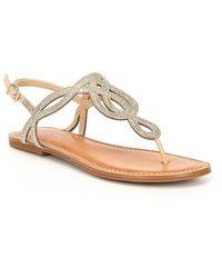 Gianni Bini - Starlitez Jeweled Flat Sandals - Lyst