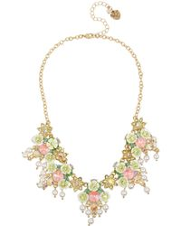 Betsey Johnson Mixed Flower Cluster Necklace