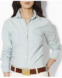 Lauren by Ralph Lauren - Lauren Jeans Co. Chambray Shirt - Lyst