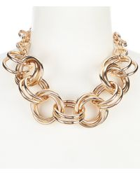 Dillard's - Tailored Double Link Ring Frontal Necklace - Lyst