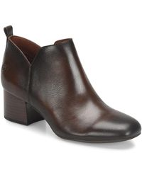 Born - Aneto Leather Block Heel Booties - Lyst