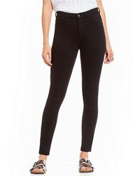 Free People - High Rise Long And Lean Skinny Jeans - Lyst