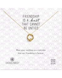 Dogeared - Friendship Knot Necklace - Lyst